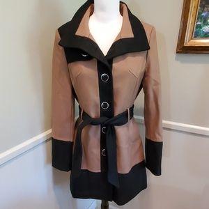 Black Rivet wool coat